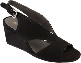 David Tate Wishbone Covered Wedge Sandals - Harlem