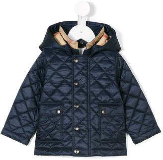 BURBERRY KIDS Hooded Padded Jacket
