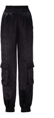 Sally LaPointe Satin Straight-Leg Pants