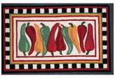 Nourison 33-Inch x 20-Inch Chili Pepper Kitchen Rug in White