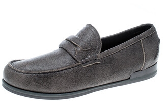 Dolce & Gabbana Brown Leather Genova Loafers Size 41.5