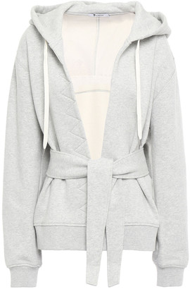 alexanderwang.t Belted French Cotton-terry Hooded Jacket