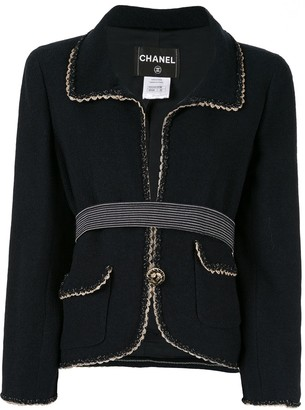 Chanel Pre Owned Braided Trim Jacket