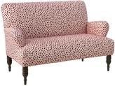Rolled Arm Printed Settee - Blush