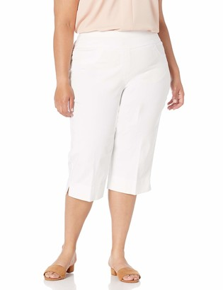 Ruby Rd. Women's Petite Pull-On Faux Fly Super Stretch Solar Millennium Tech Clamdigger