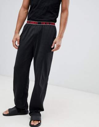 Tokyo Laundry Jersey Lounge Pants with Waistband-Black