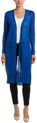 Joan Vass Women's Long Sheer Cardigan