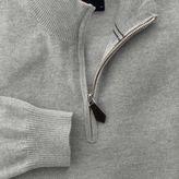 Charles Tyrwhitt Light grey cotton cashmere zip neck jumper