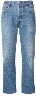 RE/DONE Stove Pipe high-rise jeans