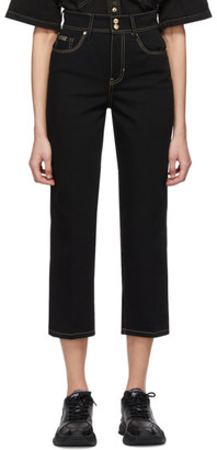 Versace Black Denim Straight-Leg Jeans