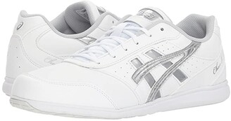 Asics Cheer 8 (White/Silver/Exchange) Women's Shoes
