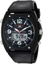 U.S. Polo Assn. Men's Analog-Digital Dial Rubber Strap Watch US9052