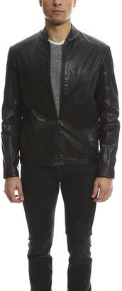 Jardine Perforated Cafe Leather Jacket