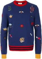 Gucci embroidered sweater