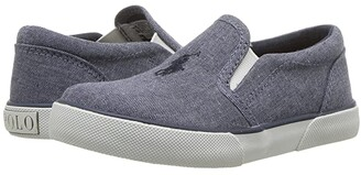 Polo Ralph Lauren Kids Bal Harbour II (Toddler) (Navy Chambray/Navy Pony Player) Boy's Shoes