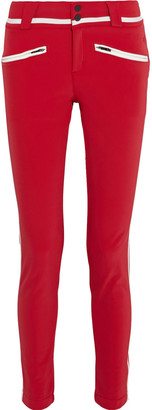 Perfect Moment Aurora Ii Grosgrain-trimmed Printed Skinny Ski Pants
