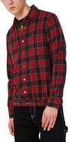 Topman Men's Check Flannel Shirt Jacket