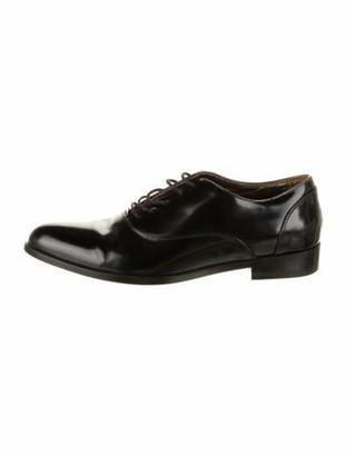 Lanvin Leather Oxfords Black