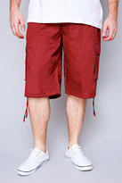 Yours Clothing NOIZ Dark Red Cotton Cargo Shorts With Pockets
