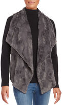BB Dakota Open Front Faux Fur Vest