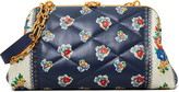 Tory Burch Cleo Quilted Floral Leather Shoulder Bag
