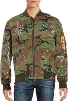 Reason Militia Splatter Camouflage Bomber Jacket