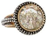 Moritz Glik Floating Diamonds White Sapphire Ring