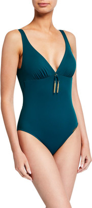 Lise Charmel Pompons Low-Back One-Piece Swimsuit