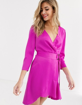 The East Order Tilly ruffle wrap dress