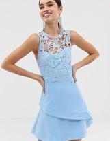 Girl In Mind crochet top skater dress