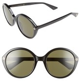 Gucci Women's 54Mm Round Sunglasses - Black/ Green