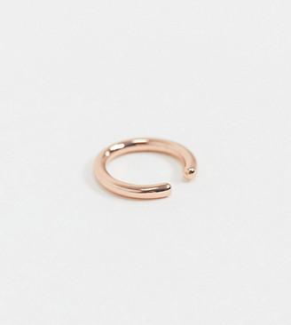 Orelia Exclusive minimal ear cuff in rose gold plate