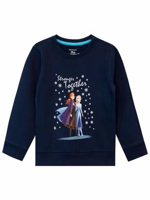 Disney Girls Frozen Sweatshirt Blue Age 5 to 6 Years