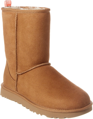 UGG Classic Short Ii Graphic Logo Leather Boot