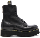 R 13 Leather Boots in Black.