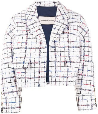 Alexandre Vauthier Cropped Tweed Jacket