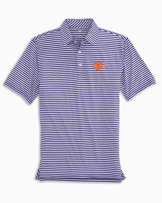 Southern Tide Clemson Tigers Striped Polo Shirt