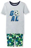 Circo Boys' Soccer 2-Piece Pajama Set Gray/Green