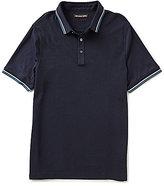 Michael Kors Mixed Media Short-Sleeve Polo Shirt