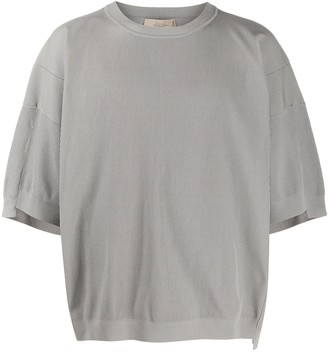 Maison Flaneur Ribbed Short Sleeve Sweatshirt