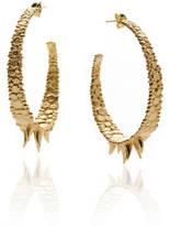 Gia Belloni Large Organic Textured Hoop Earrings Reduced Price