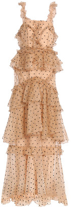 Alice McCall Yoko Tiered Swiss-dot Silk-organza Gown