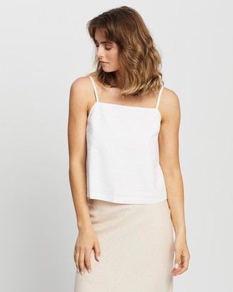Nude Lucy Miles Linen Cami