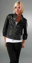 3/4 Sleeve Leather Jacket