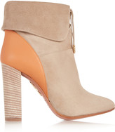 Aquazzura Cambridge suede and leather ankle boots
