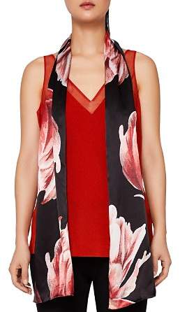 Ted Baker Vickky Tranquility Floral Silk Skinny Scarf