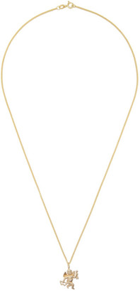 Georgia Kemball Gold Cupid Necklace