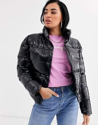 Champion reverse weave padded bomber jacket-Black