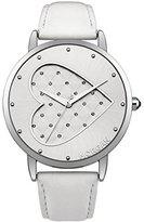 Morgan m1241 W-a – Ladies Watch – Analogue Quartz – Silver Dial – White Leather Bracelet