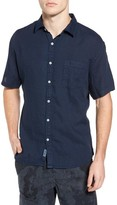 Original Paperbacks Men's Rome Trim Fit Linen Sport Shirt